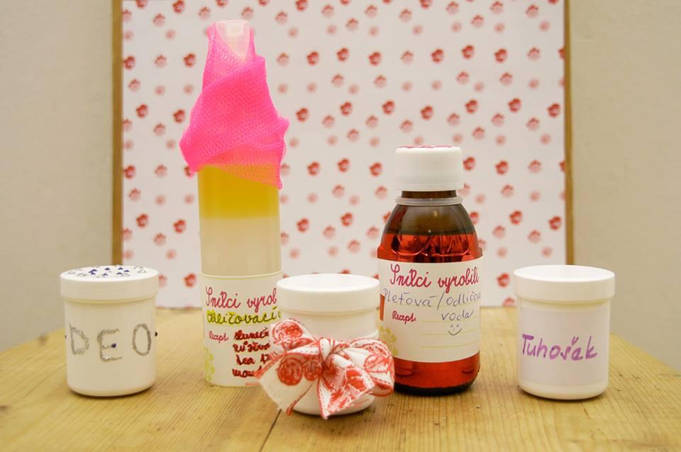 Fotky z prvního workshopu výroby domácí kosmetiky